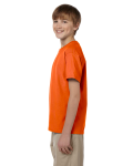 Orange Youth Premium Ultra Cotton T as seen from the sleeveright