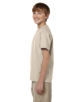 Sand Youth Premium Ultra Cotton T as seen from the sleeveright