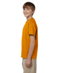 Texas Orange Youth Premium Ultra Cotton T as seen from the sleeveright