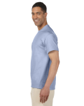Light Blue Premium Ultra Cotton Pocket T as seen from the sleeveright