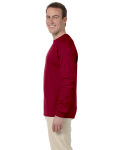 Cardinal Red 6.1 oz. Ultra Cotton® Long-Sleeve T-Shirt as seen from the sleeveright