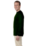 Forest Green 6.1 oz. Ultra Cotton® Long-Sleeve T-Shirt as seen from the sleeveright