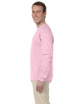 Light Pink 6.1 oz. Ultra Cotton® Long-Sleeve T-Shirt as seen from the sleeveright