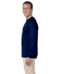 Navy 6.1 oz. Ultra Cotton® Long-Sleeve T-Shirt as seen from the sleeveright