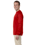 Red 6.1 oz. Ultra Cotton® Long-Sleeve T-Shirt as seen from the sleeveright