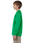 Irish Green Youth 6.1 oz. Ultra Cotton® Long-Sleeve T-Shirt as seen from the sleeveright