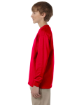 Red Youth 6.1 oz. Ultra Cotton® Long-Sleeve T-Shirt as seen from the sleeveright