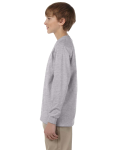 Sport Grey Youth 6.1 oz. Ultra Cotton® Long-Sleeve T-Shirt as seen from the sleeveright