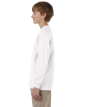 White Youth 6.1 oz. Ultra Cotton® Long-Sleeve T-Shirt as seen from the sleeveright