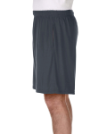 Charcoal Performance™ 5.5 oz. Nine Inch Short with Pockets as seen from the sleeveright