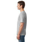Ash Grey Classic Cotton T as seen from the sleeveright