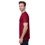 Cardinal Red Classic Cotton T as seen from the sleeveright