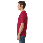 Heather Red Classic Cotton T as seen from the sleeveright