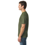Hthr Military Green Classic Cotton T as seen from the sleeveright