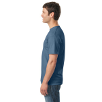 Indigo Blue Classic Cotton T as seen from the sleeveright