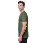 Military Green Classic Cotton T as seen from the sleeveright
