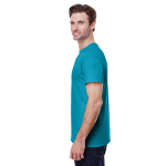 Tropical Blue Classic Cotton T as seen from the sleeveright