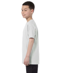 Ash Grey Classic Cotton  Youth T as seen from the sleeveright