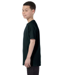 Black Classic Cotton  Youth T as seen from the sleeveright