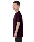 Dark Chocolate Classic Cotton  Youth T as seen from the sleeveright