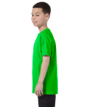 Electric Green Classic Cotton  Youth T as seen from the sleeveright