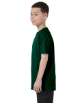 Forest Green Classic Cotton  Youth T as seen from the sleeveright