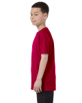 Garnet Classic Cotton  Youth T as seen from the sleeveright