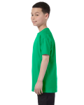 Irish Green Classic Cotton  Youth T as seen from the sleeveright
