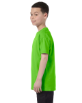 Lime Classic Cotton  Youth T as seen from the sleeveright