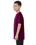 Maroon Classic Cotton  Youth T as seen from the sleeveright