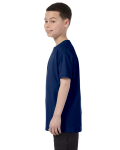Navy Classic Cotton  Youth T as seen from the sleeveright