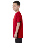 Red Classic Cotton  Youth T as seen from the sleeveright