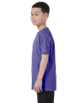 Violet Classic Cotton  Youth T as seen from the sleeveright