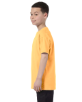 Yellow Haze Classic Cotton  Youth T as seen from the sleeveright