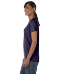 Black Classic Cotton Ladies' Missy Fit T-Shirt as seen from the sleeveright