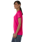 Heliconia Classic Cotton Ladies' Missy Fit T-Shirt as seen from the sleeveright