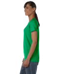 Irish Green Classic Cotton Ladies' Missy Fit T-Shirt as seen from the sleeveright