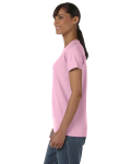 Light Pink Classic Cotton Ladies' Missy Fit T-Shirt as seen from the sleeveright