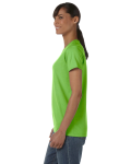 Lime Classic Cotton Ladies' Missy Fit T-Shirt as seen from the sleeveright