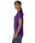 Purple Classic Cotton Ladies' Missy Fit T-Shirt as seen from the sleeveright
