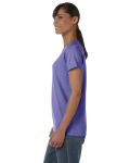 Violet Classic Cotton Ladies' Missy Fit T-Shirt as seen from the sleeveright