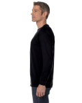 Black Classic Cotton Long-Sleeve T as seen from the sleeveright