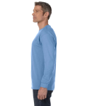 Carolina Blue Classic Cotton Long-Sleeve T as seen from the sleeveright
