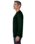 Forest Green Classic Cotton Long-Sleeve T as seen from the sleeveright