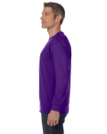 Purple Classic Cotton Long-Sleeve T as seen from the sleeveright