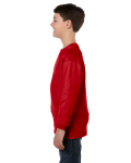 Red Classic Cotton Youth Long-Sleeve T as seen from the sleeveright
