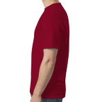 Antque Cherry Red SoftStyle T as seen from the sleeveright