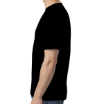 Black SoftStyle T as seen from the sleeveright