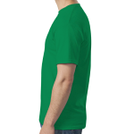 Heather Irish Green SoftStyle T as seen from the sleeveright