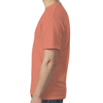 Heather Orange SoftStyle T as seen from the sleeveright